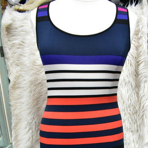 ELLEN TRACY Maxi Long Striped Dress Size 8 Medium